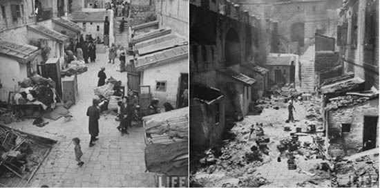 Jews were ethnically cleansed. Before after.