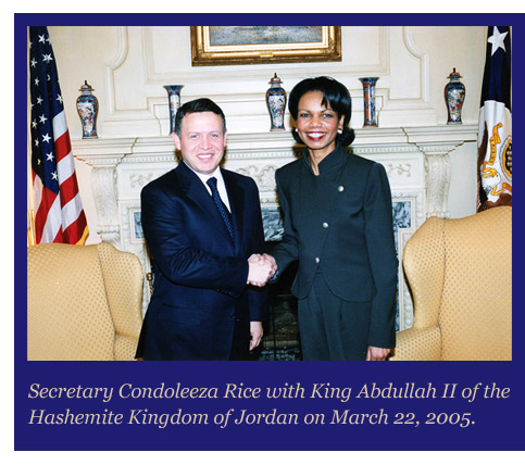 King Abdullah of Jordan.